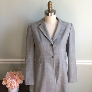 Jones New York• Long Grey Wool Blazer